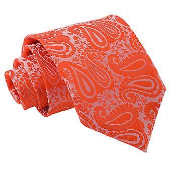 Bränd Orange Paisley klassiska slips