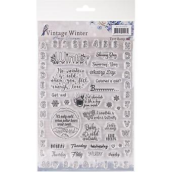 Find It Amy Design Vintage Winter Clear Stamps-English Words & Phrases