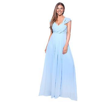KRISP  Ladies Chiffon Lace Bridal Bridesmaid Summer Wedding Long Maxi Dress Gown 8-20