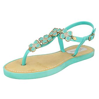 Ladies Open Toe Sandal With Upper Detailing