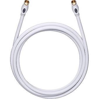Antennas, SAT Cable [1x F plug - 1x F plug] 1.70 m 120 dB gold plated connectors White Oehlbach Transmission Plus S