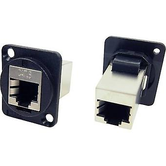XLR adapter FTP RJ45 CAT6 RJ45 CAT 6 Adapter, build-in CP30222SX Cliff Content: 1 pc(s)