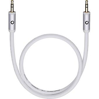 Oehlbach Jack Audio/phono Cable [1x Jack plug 3.5 mm - 1x Jack plug 3.5 mm] 3 m Black gold plated connectors, OFC core
