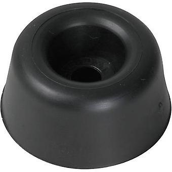PB Fastener 120040 Threaded buffer Black (Ø x H) 30 mm x 22 mm 1 pc(s)