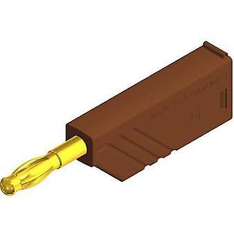 SKS Hirschmann LAS N WS Au Straight blade plug Plug, straight Pin diameter: 4 mm Brown 1 pc(s)