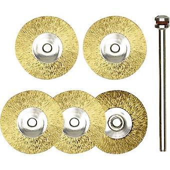 Set de 5 piezas de latón para limpiar y pulir PROXXON Micromot 28 962,