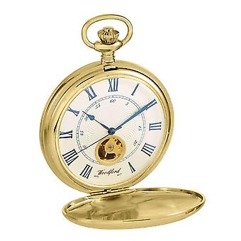 Woodford Hunter Twin Lid Albert Pocket Watch - Gold