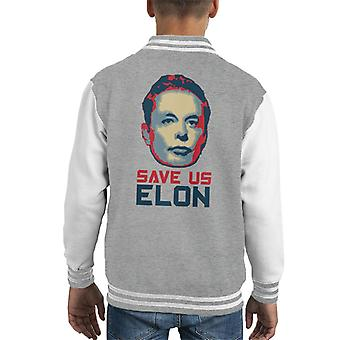 Save Us Elon Kid's Varsity Jacket