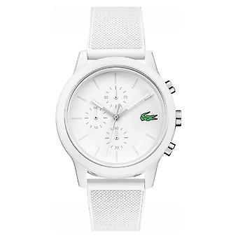 Lacoste 12.12 White Chronograph Silicone Strap 2010974 Watch