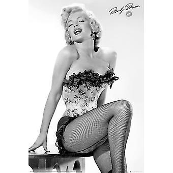 Marilyn Monroe Table Poster Poster Print