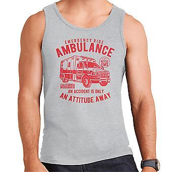 Emergency Ride Ambulance Retro Logo Men's Vest