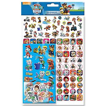 Paw Patrol Mega Stickers Pack 150pcs Fun Foiled stickers Blue