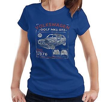 Volkswagen Golf MK1 GTI Owners Workshop Manual Women's T-Shirt