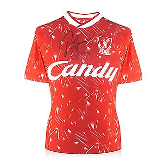 John Barnes Front Signed 1989-91 Liverpool Home Shirt