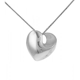 Cavendish franske Sterling sølv Solid svirrede hjerte vedhæng uden kæde