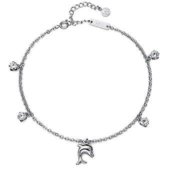 Oliver Weber ankel kæde Dolphin stål CZ krystal