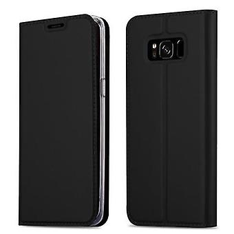 Cadorabo sleeve for Samsung Galaxy S8 - mobile case with stand function and compartment in the metallic look - case cover sleeve pouch bag book Klapp style