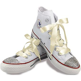 象牙色缎面鞋带