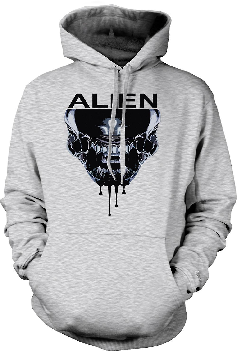 Mens hettegenser - Alien ansikt - Sci Fi - Pop Art
