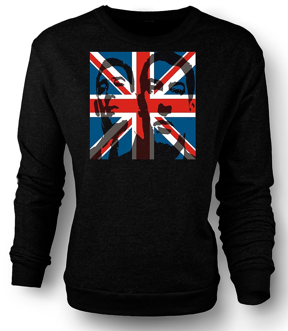 Mens Sweatshirt The Krays Union Jack - Gangster