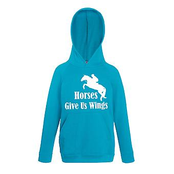 Horses Give Us Wings Sapphire Blue Hoody