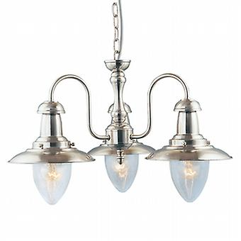 5333-3SS Fisherman Satin Silver 3 Light Pendant