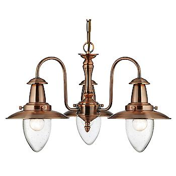 Searchlight 5333-3CU 3 Light Fisherman's Pendant In Copper