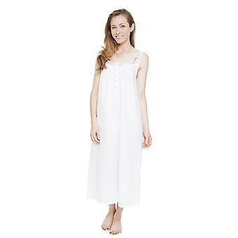 Cyberjammies 1314 Frauen Nora Rose Pearl White Night Gown Loungewear Nachthemd