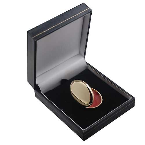 18ct Gold 35x26mm plain handmade oval Locket