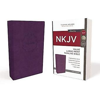 NKJV, waarde Thinline Bijbel, grote Print, kunstleer, paars, rood brief Edition, Comfort afdrukken