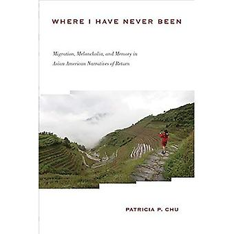 Where I Have Never Been: Migration, Melancholia, and Memory in Asian American Narratives of Return (Asian� American History & Cultu)
