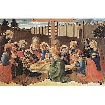 Jammer av Kristus, Fra Angelico, 40x60cm med brett