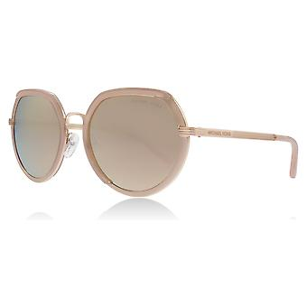 Michael Kors MK1034 32465A Rose Gold Ibiza Runde Sonnenbrille Objektiv Kategorie 3 Objektiv gespiegelt Größe 53mm