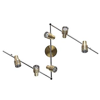 Glasberg - Antique Brass Six Light Spotlight On Bar 540021206