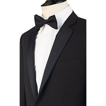 Dobell Mens Black 2 stykke Dress passer vanlig hakk jakkeslaget