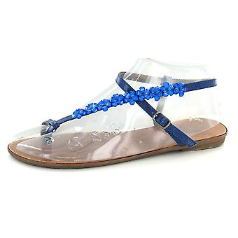 Ladies Spot On Flat Toe Loop Y Strap Sandal