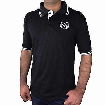 Polo Shirt with Square Compass & G Embroidery Logo [Black, Grey, Blue]