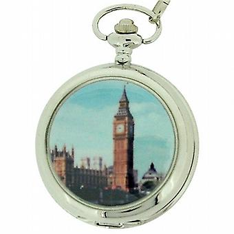 Boxx Gents Londres Big Ben Pocket Watch sur 12 pouces chaîne Boxx62