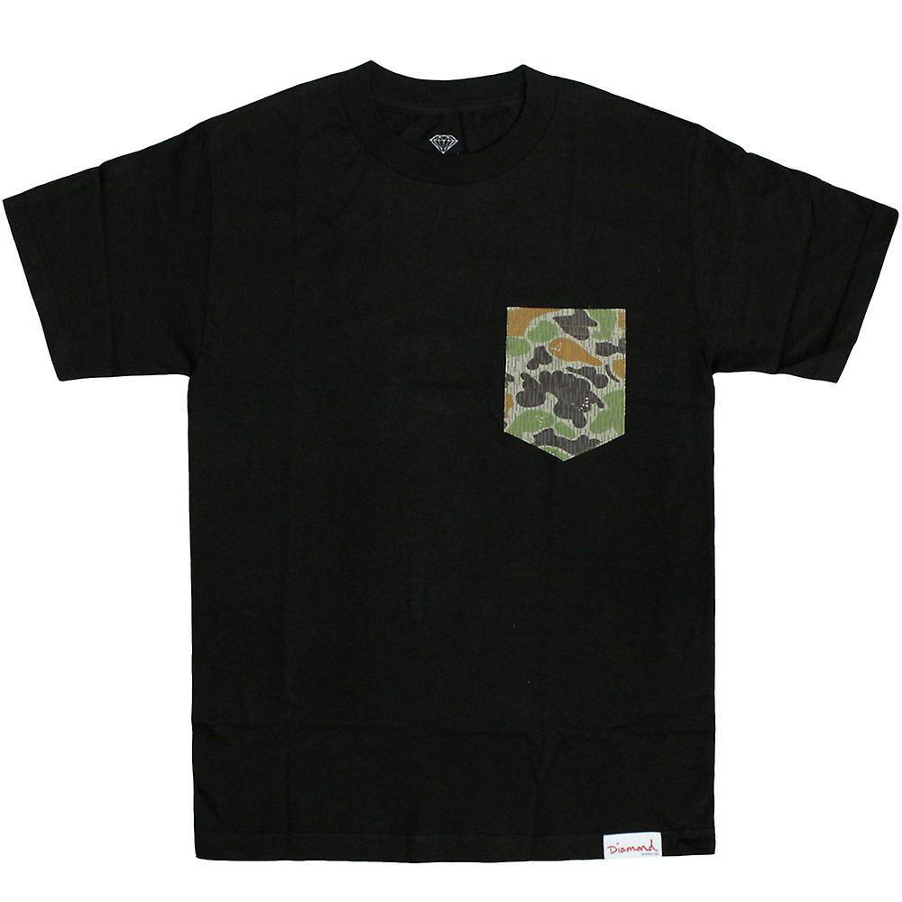 Diamond Supply Co Rainfrog Pocket t-shirt Black