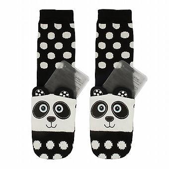 Aroma Home Childrens Click & Heat Gel Cosy Socks: Panda