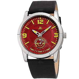 Joshua & Sons JX135SSRD 60 Second Sub Dial Geniune Leather Strap