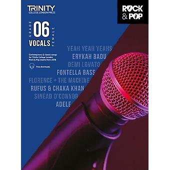 Trinity Rock & Pop 2018 Vocals Grade 6 (Female Voice) - 9780857366740