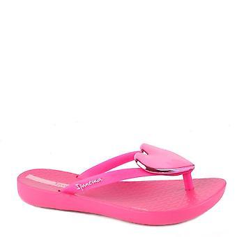 Ipanema Kid's Maxi Heart Bright Pink Sandal
