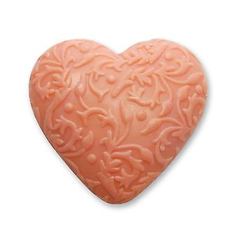 Florx biolina biologische schapenmelk zeep-granaatappel-hart met ornament 80 g