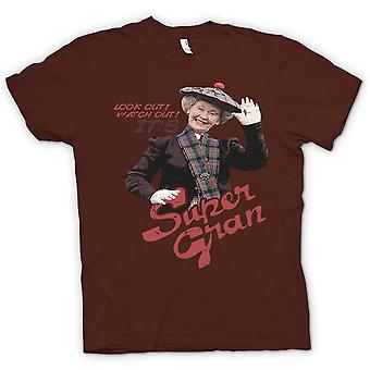 Womens T-shirt - Look Out Its Supergran - Classic 80s Kids TV