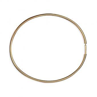 Jonc pläterad topp guld arm band på sidan 60mm tjocklek 4x2mm