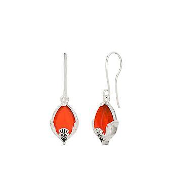 Outlander Red Carnelian Outlander Dangle Earrings In Sterling Silver