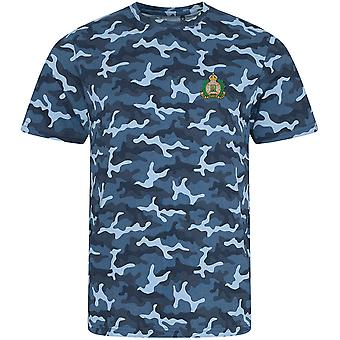 Suffolk Regiment Colour - Licensed British Army Embroidered Camouflage Print T-Shirt