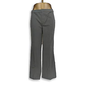 H by Halston Women's Petite Pants Studio Stretch Full Length Gray A280407