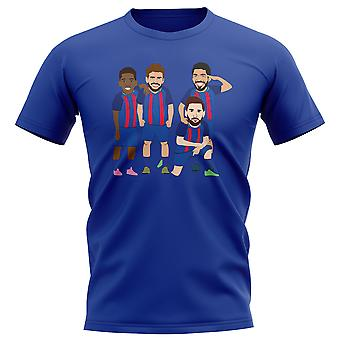 Barcelona Players Illustration T-Shirt (Blue)